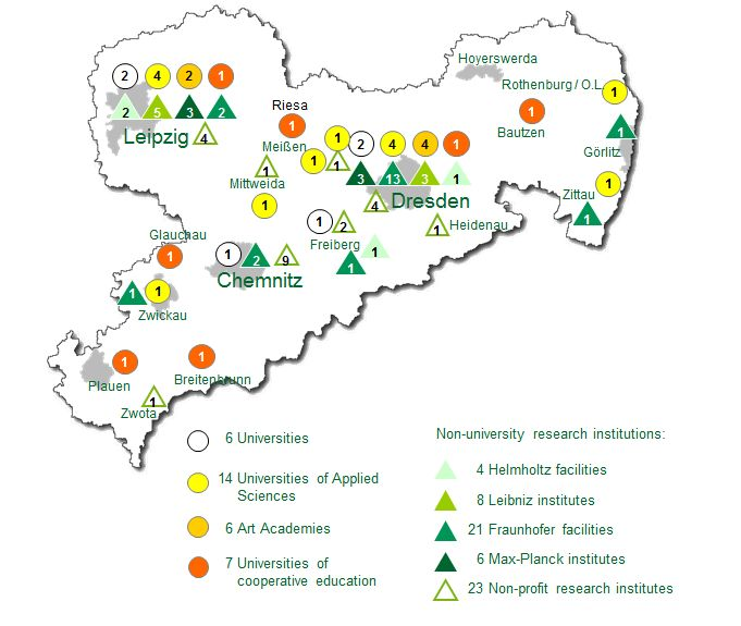 "Map ""Saxony's Research Infrastructure"""